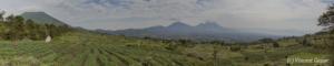 Panorama Virunga Bisoke Sabyinyo