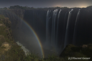 Lunar rainbow on Victoria Falls, 3