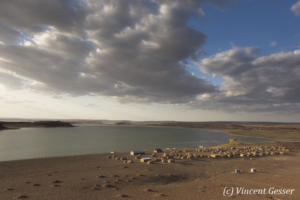 Layeni (a.k.a. El Molo Village) on shore on Lake Turkana, Kenya