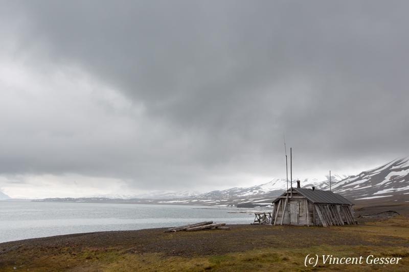 Whaler hut in Spitzbergen, Svalbard