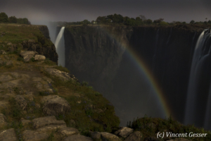 Lunar rainbow on Victoria Falls, 1