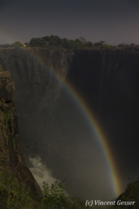 Lunar rainbow on Victoria Falls, 2