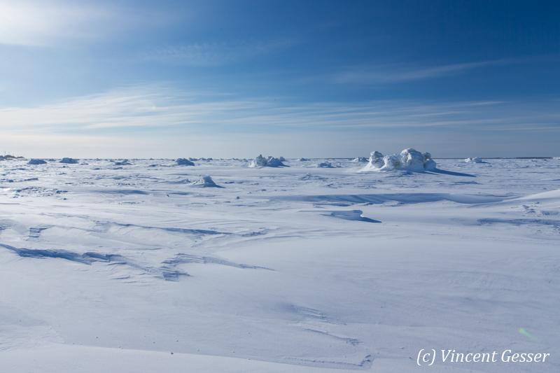 Hudson Bay frozen, Churchill, Manitoba, 3