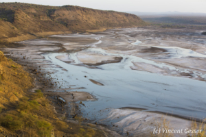 Lake Magadi at dawn, Shompole Sanctuary, Kenya, 1