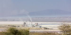 Soda Plant in activity, Lake Magadi, Shompole Sanctuary, Kenya, 5