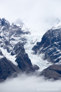Details of glacier of Torres del Paine, Chilean Patagonia