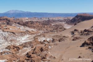 Landscape of the Cordillera de la Sal, Chile