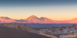Sunset on the Valley of the Moon and Three Marias, Chile