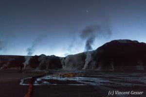 Geyser del Tatio at dawn, Chile