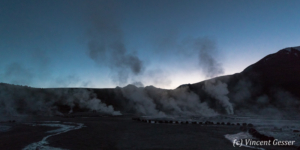 Geyser del Tatio at dawn, Chile