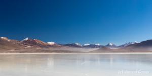 Landscape of Laguna Blanca, Bolivia