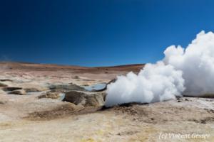 Geothermal field of Sol de Manana, Bolivia
