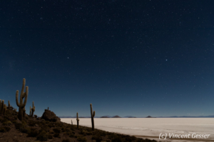 Night and sky over the Salar of Uyuni, Bolivia