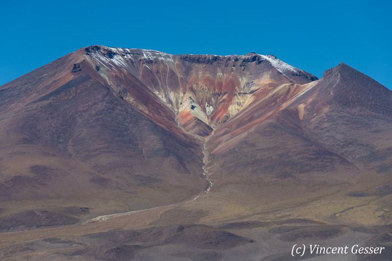 Volcano crater in the Atacama Desert, Chile
