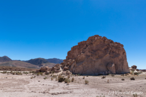 Landscape of Yerbas Buenas Petroglyphs in Chile